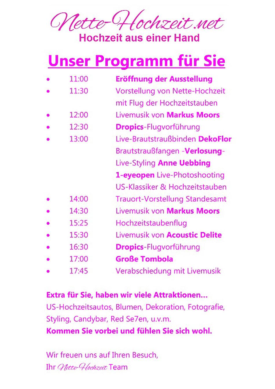 Programm - Nette-Hochzeit